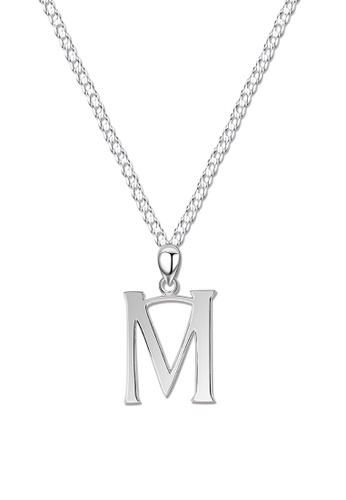 SC Tom Silver silver Letter Pendant with Chain SC872AC0J8D1PH_1