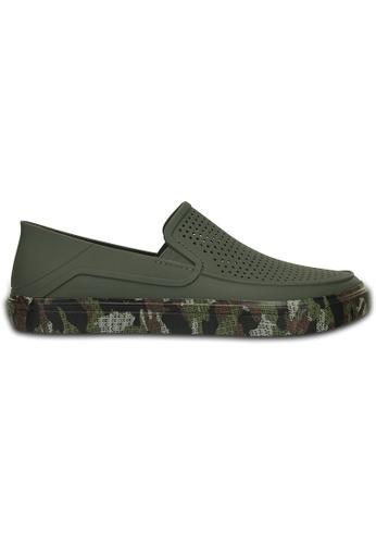 Crocs green Men's CitiLane Roka Camo Band Slip-on Army Green CR883SH81VIWMY_1