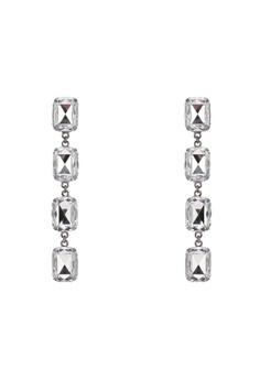Mango Silver Pendant Crystals Earrings Ma193ac0rvyrmy 1