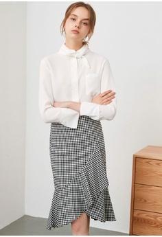 8d454beaf3e5 Hopeshow Overlapping Frill Skirt RM 109.00