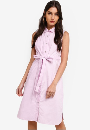 ZALORA purple Sleeveless Midi Shirt Dress C245BAA4071865GS_1