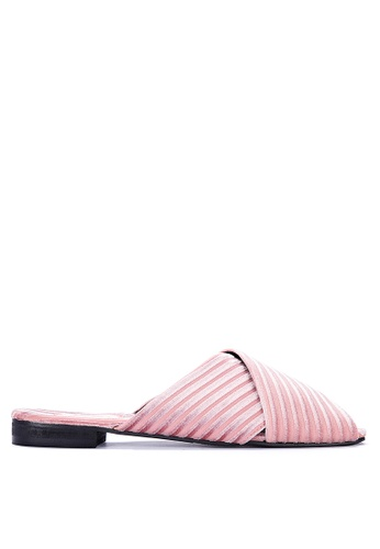 ABOUT A GIRL pink Slip On Sandals A8810SHC23EF63GS_1