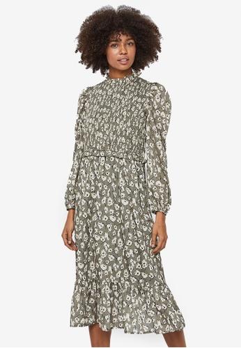 Vero Moda brown Charlotte Smock Dress 77E54AAF45A5F4GS_1