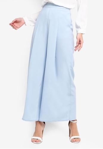 ZALORA blue Wide Leg Pants AA1A3AA640A32CGS_1