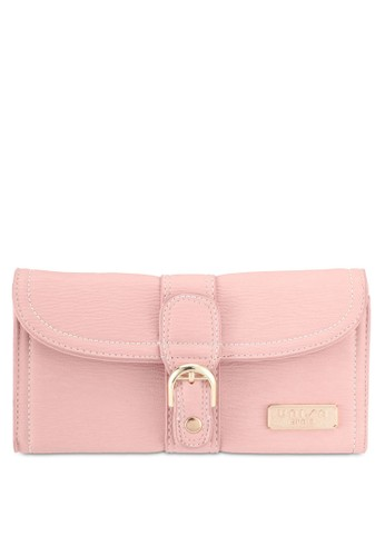 Unisa pink Contrast Stitching Bi-Fold Ladies Wallet 4BEB2AC138E19EGS_1