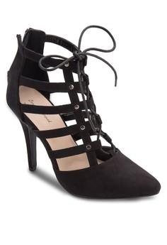 Embellished Lace Cage Heel