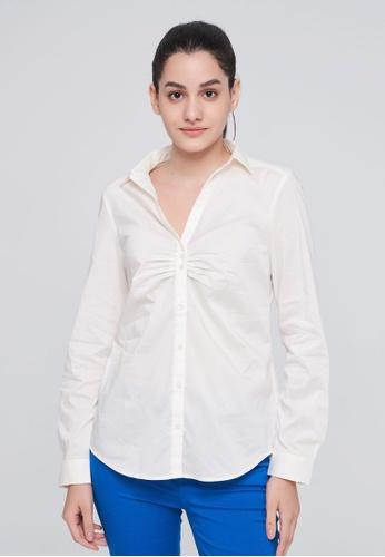 United Colors of Benetton white Basic Shirt E57BFAADA889B5GS_1