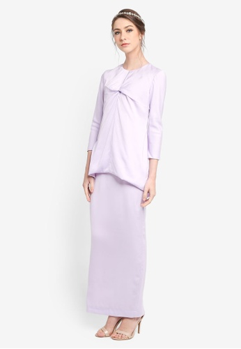 PU3 purple Linnea Twist Kurung 3B2DBAAF29A631GS_1