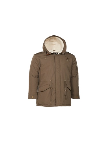 Universal Traveller green Universal Traveller Sherpa Fleece Padded Jacket - PJ 9029 70E4AAA12671C1GS_1