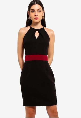 ZALORA 黑色 and 紅色 撞色洋裝 B9E0DAABBCE135GS_1