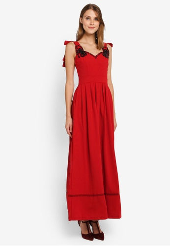 Megane red Red Romance Marguerite Pearl Embellished Dress ME617AA0SL9TMY_1