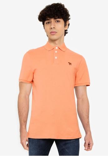 Abercrombie & Fitch orange Webex Core Polo Shirt ED502AA4196636GS_1