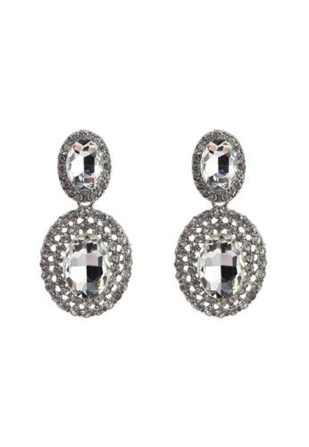 Red's Revenge silver classic evening dangle earrings BE579ACB81B91FGS_1