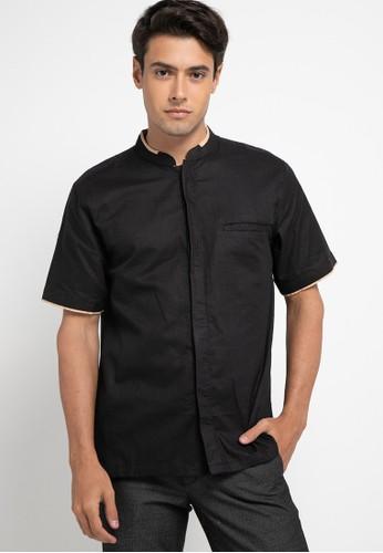 Introspect clothing black Kemeja Koko 58263AA3281190GS_1