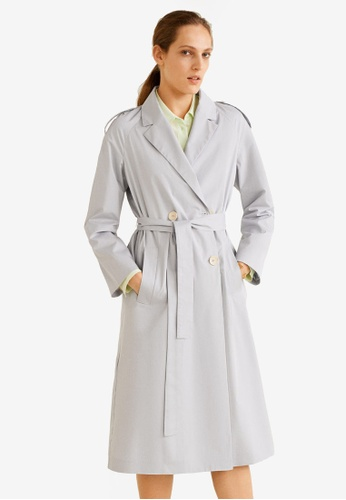 d6da38f02115 Buy Mango Double Breasted Trench Coat | ZALORA HK