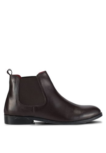 ACUTO brown Leather Chelsea Boots AC283SH0SL5HMY_1