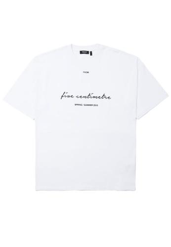 Fivecm white Logo script tee C37B5AA290F655GS_1