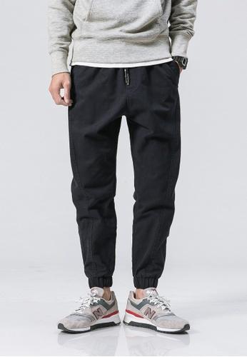 hk-ehunter navy Casual Regular Fit Pants 545A7AAA294705GS_1