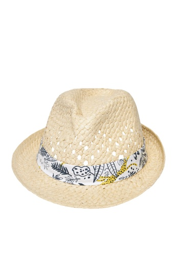 Du Pareil Au Même (DPAM) beige Woven Hat DA5A3KC00F1AE8GS_1