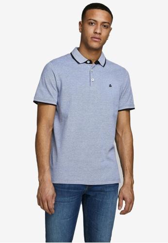 JACK & JONES blue Paulos Outlined Polo Shirt A0755AA5EAFFEDGS_1
