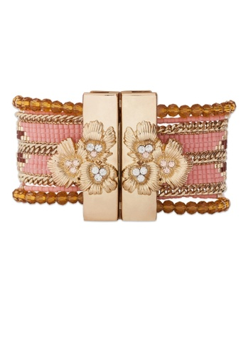 HIPANEMA pink and multi and gold Bracelet Eternity Pink CC287AC57E8764GS_1