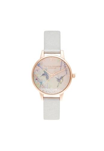 Olivia Burton 金色 Olivia Burton Painterly Prints Rose Gold & Floral Women's Watch (OB16PP61) 1506BACC2753F5GS_1