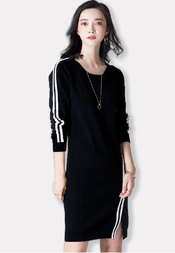 Sunnydaysweety black 2017 F/W Black Crew-Neck Long Sleeve One Piece Dress A09275702BK SU219AA0G7O7SG_1