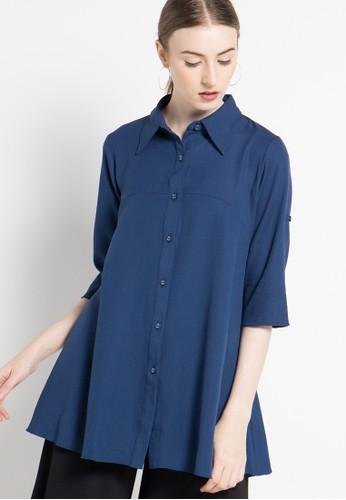 BRILLIANT GIRL blue Blouse BR343AA07XOEID_1