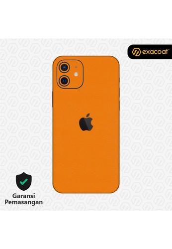 Exacoat iPhone 12 / 12 Mini Skins True Colors - Pumpkin Orange D8A45ESDB94275GS_1