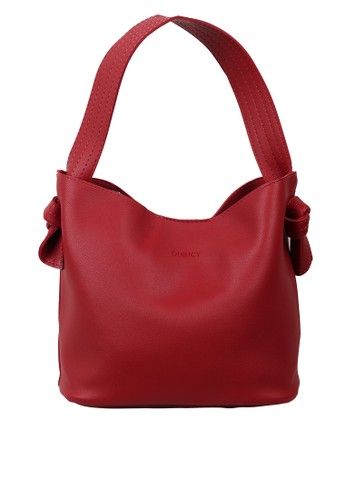 Quincy Label red Irish Bucket Bag Wanita -Maroon 8BFFBACD439865GS_1