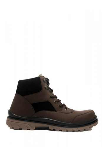 Cut Engineer brown Cut Engineer Safety Boots Iron Construction Leather Dark Brown EE8DFSH915154DGS_1