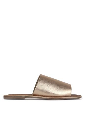 Betts gold Madrid Leather Slip-On Sandals D668CSH2BEAE6FGS_1