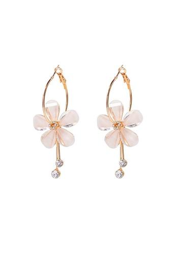 Glamorbit multi Floral Statement Earrings 4FF78ACEF2B8E6GS_1