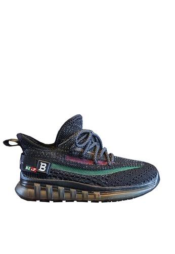 Twenty Eight Shoes 黑色 VANSA 舒適針織運動鞋 VSK-T3368 18A7FKS77AE36EGS_1
