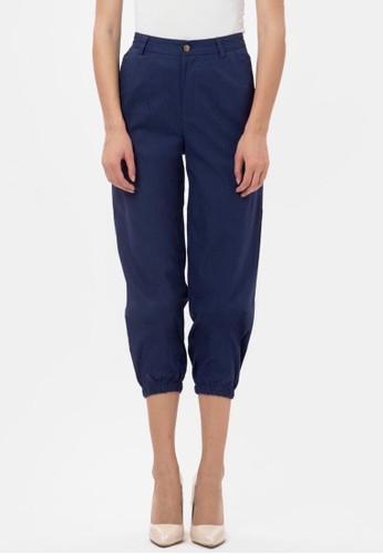 MKY Clothing black Button Joger Pants in Blue 0D63EAA20B4F99GS_1