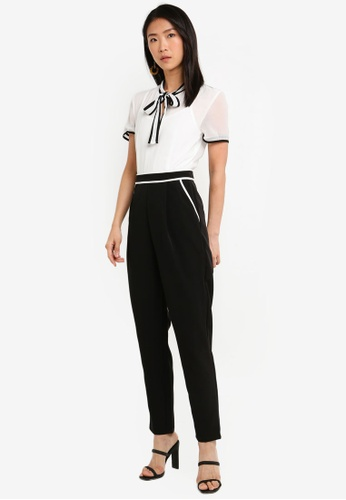 Paper Dolls black and white Mono Shirt Jumpsuit 01092AAA9E1EA8GS_1