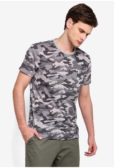 730e8ea44 Banana Republic grey Camo Graphic Crew Neck T-Shirt CA8EEAAD9E5B7BGS_1