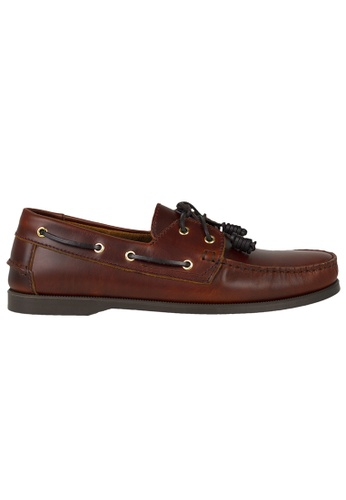 Tomaz red Tomaz C328-1 Leather Boat Shoes (Wine) BF9F9SH7CDEDD9GS_1