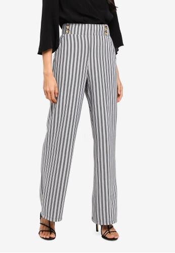 River Island multi Double Button Jersey Wide Leg Trousers E19E0AA8A70561GS_1