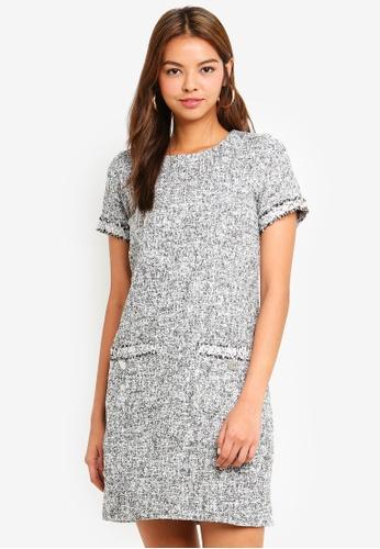 b9bdc1635c968 Buy Dorothy Perkins Cream And Black Pocket Dress Online on ZALORA Singapore