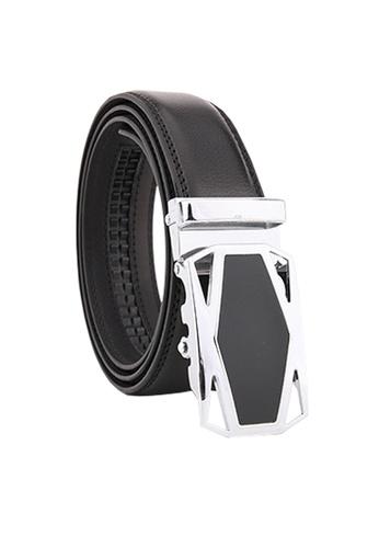 Twenty Eight Shoes black VANSA Fashion Leather Automatic Buckle Belt  VAM-Bt035 EA19BACE3E012CGS_1