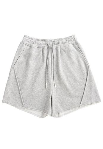 Twenty Eight Shoes grey Soft Knitted Sports Shorts 6050GS21 7AD0DAA22F40B1GS_1