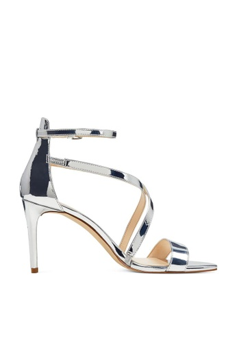 Nine West silver NWRETILTHRPY Open Toe Sandals NI432SH0GHBKSG_1