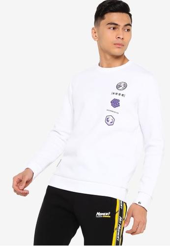 361° white Sports Life Sweater 71153AADFA35D6GS_1