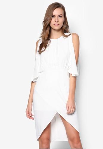 開叉袖裹飾洋裝,esprit香港門市 服飾, 短洋裝