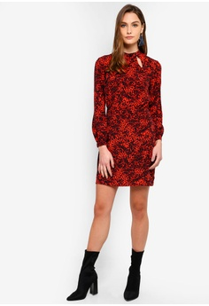 53487048b39a 53% OFF Dorothy Perkins Red Leopard Keyhole Shift Dress S$ 99.90 NOW S$  46.90 Sizes 6 8 10 12 14