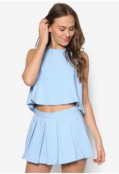 Singlet & Pleat Skirt Suit