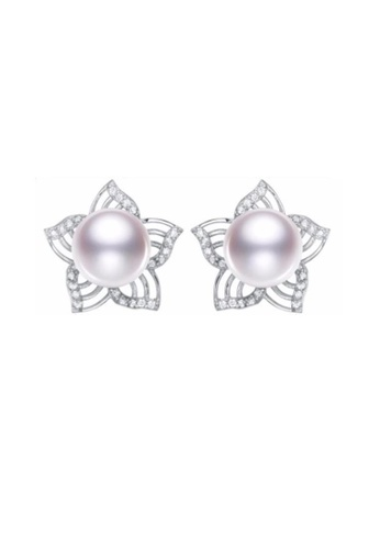 ADORA white Silver Pearl Flower Earrings A2B8FAC821D8F7GS_1