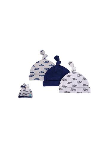 Little Kooma blue Baby Knot Beanie Hat 3 Pc 52310 - 1006 0D700KC817DEE1GS_1