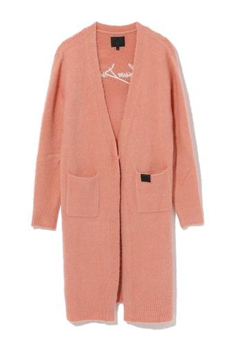 MUSIUM DIV pink Long cardigan DBBA6AAF6048C9GS_1